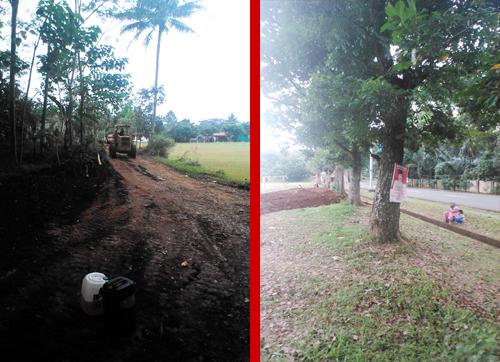 Pemerintah Desa Ciroyom Laksanakan Pembenahan Lahan Parkir