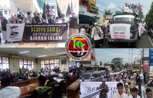Terkait Perpu Organisasi Sejumlah Jajaran Ormas Islam Datangi Kantor DPRD Kota Tasikmalaya