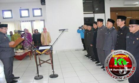 Walikota Tasikmalaya Lantik dan Sumpah 8 Pejabat