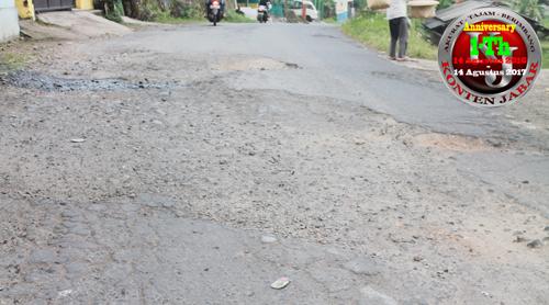 Warga Hawatirkan Jalan Nasional Yang Rusak Parah Ini Picu Kecelakaan