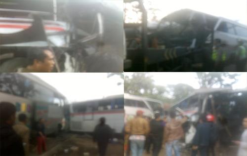 Kecelakaan Beruntun Malangbong Satu Orang Korban Terdampar Lama di Toilet Bus