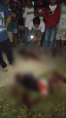 Pelaku curanmor usai dilumpuhkan oleh polisi di Rt
