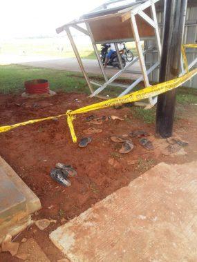 Tempat kejadian perkara tewas nya ke 4 korban yang tersengat aliran listrik