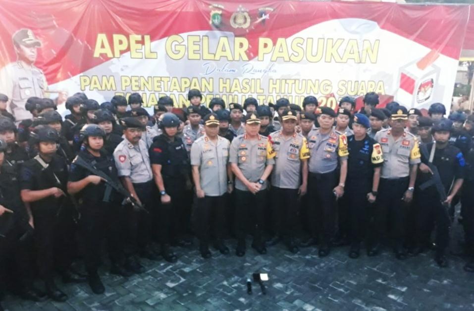 Sejumlah Jajaran Polres Metro Bekasi, di pimpin Kapolres Kombes Pol Candra Sukma Kumara